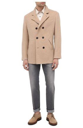 Мужской кашемировое пальто BRUNELLO CUCINELLI бежевого цвета, арт. MT4977003 | Фото 2