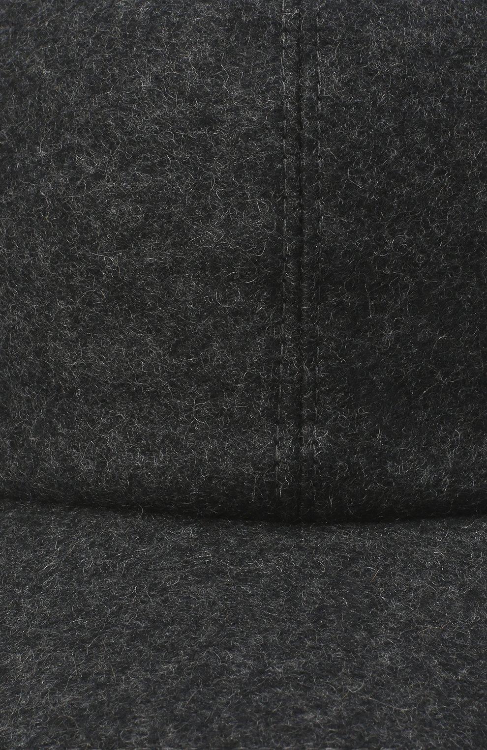 Мужской кашемировая бейсболка FEDELI темно-серого цвета, арт. 3UI00801   Фото 3