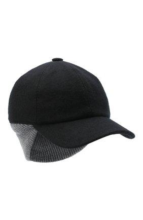 Мужской кашемировая бейсболка FEDELI черного цвета, арт. 3UI00806 | Фото 1
