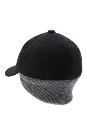 Мужской кашемировая бейсболка FEDELI черного цвета, арт. 3UI00806 | Фото 2