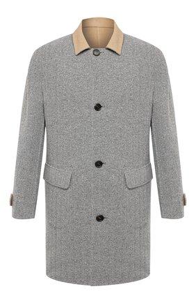 Мужской двустороннее пальто BRUNELLO CUCINELLI светло-серого цвета, арт. MN4879947 | Фото 1