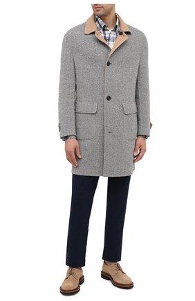 Мужской двустороннее пальто BRUNELLO CUCINELLI светло-серого цвета, арт. MN4879947 | Фото 2