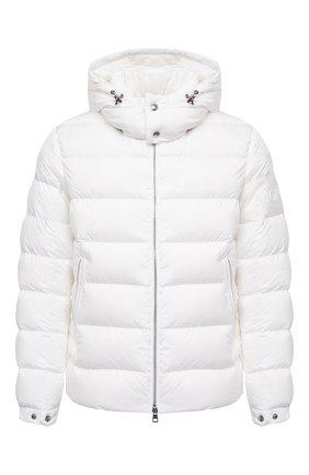 Мужская пуховая куртка MONCLER белого цвета, арт. F2-091-1A543-00-C0572 | Фото 1