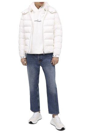 Мужская пуховая куртка MONCLER белого цвета, арт. F2-091-1A543-00-C0572 | Фото 2