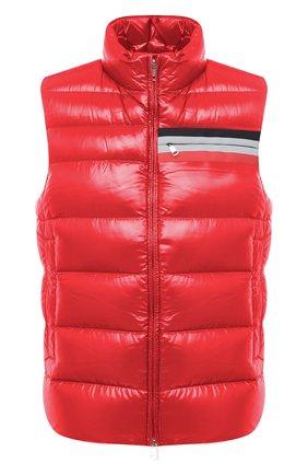Мужской пуховый жилет parpallion MONCLER красного цвета, арт. F2-091-1A583-00-C0604 | Фото 1