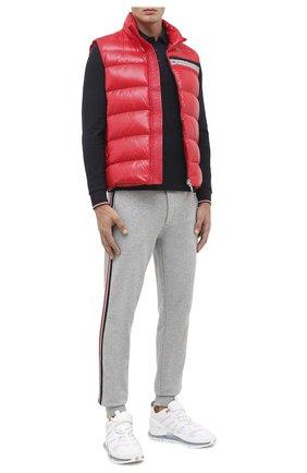 Мужской пуховый жилет parpallion MONCLER красного цвета, арт. F2-091-1A583-00-C0604 | Фото 2