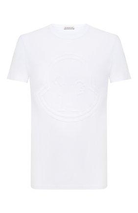 Мужская хлопковая футболка MONCLER белого цвета, арт. F2-091-8C748-10-8390T | Фото 1