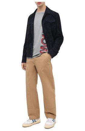 Мужская хлопковая футболка MONCLER серого цвета, арт. F2-091-8C760-10-8390Y | Фото 2