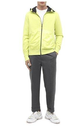 Мужская комбинированная толстовка 5 moncler craig green MONCLER GENIUS желтого цвета, арт. F2-09H-8G503-10-V8177 | Фото 2