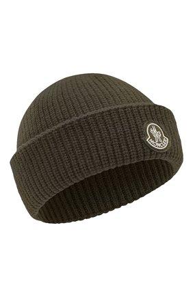 Мужская шерстяная шапка 2 moncler 1952 MONCLER GENIUS хаки цвета, арт. F2-092-9Z704-00-A9578 | Фото 1