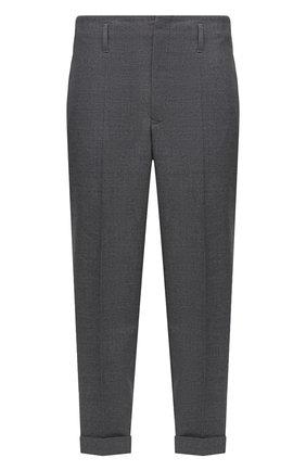 Мужской шерстяные брюки 7 moncler fragment hiroshi fujiwara MONCLER GENIUS серого цвета, арт. F2-09U-2A701-00-549YA   Фото 1