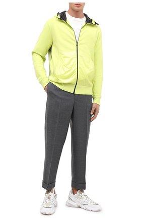 Мужской шерстяные брюки 7 moncler fragment hiroshi fujiwara MONCLER GENIUS серого цвета, арт. F2-09U-2A701-00-549YA   Фото 2