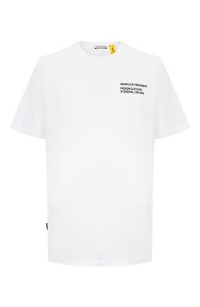Мужская хлопковая футболка 7 moncler fragment hiroshi fujiwara MONCLER GENIUS белого цвета, арт. F2-09U-8C708-10-8392B | Фото 1