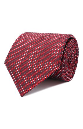 Мужской шелковый галстук CANALI красного цвета, арт. 24/HJ02841 | Фото 1