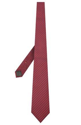 Мужской шелковый галстук CANALI красного цвета, арт. 24/HJ02841 | Фото 2