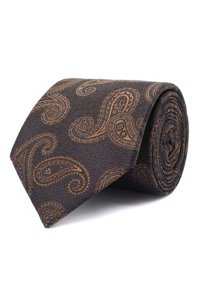 Мужской шелковый галстук CANALI коричневого цвета, арт. 18/HJ02880 | Фото 1