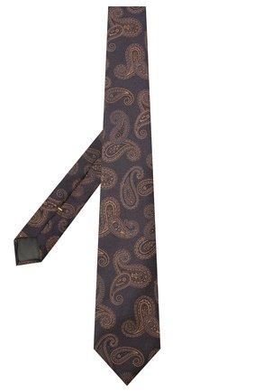 Мужской шелковый галстук CANALI коричневого цвета, арт. 18/HJ02880 | Фото 2