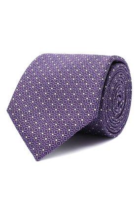 Мужской шелковый галстук CANALI сиреневого цвета, арт. 18/HJ02843 | Фото 1