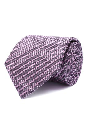 Мужской шелковый галстук CANALI сиреневого цвета, арт. 18/HJ02841 | Фото 1