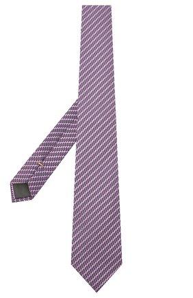 Мужской шелковый галстук CANALI сиреневого цвета, арт. 18/HJ02841 | Фото 2