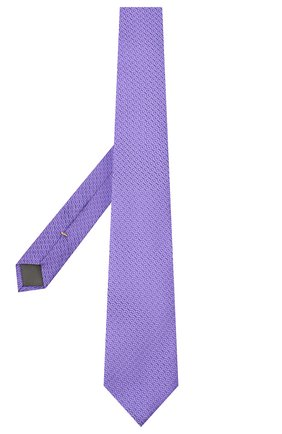 Мужской шелковый галстук CANALI сиреневого цвета, арт. 18/HJ02839 | Фото 2
