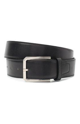 Мужской кожаный ремень KITON черного цвета, арт. USC23PN00100 | Фото 1