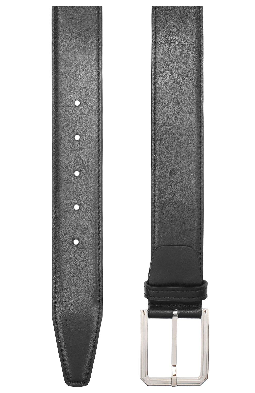 Мужской кожаный ремень KITON черного цвета, арт. USC23PN00100 | Фото 2