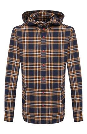 Мужская хлопковая рубашка KITON разноцветного цвета, арт. UMCMARH0748608 | Фото 1