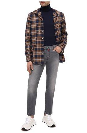 Мужская хлопковая рубашка KITON разноцветного цвета, арт. UMCMARH0748608 | Фото 2