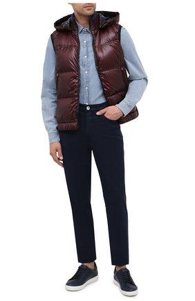 Мужской пуховый жилет KITON бордового цвета, арт. UW0842MV03T96 | Фото 2