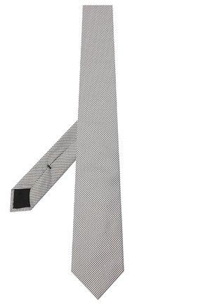 Мужской шелковый галстук BOSS серебряного цвета, арт. 50442046 | Фото 2