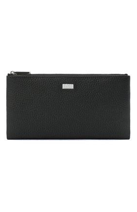 Мужской кожаное портмоне BOSS черного цвета, арт. 50437533 | Фото 1