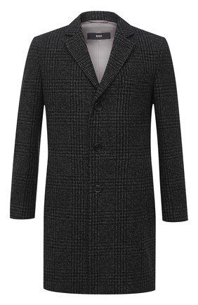 Мужской пальто BOSS темно-серого цвета, арт. 50438643 | Фото 1