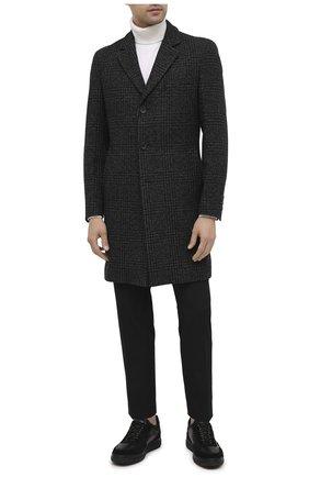 Мужской пальто BOSS темно-серого цвета, арт. 50438643 | Фото 2