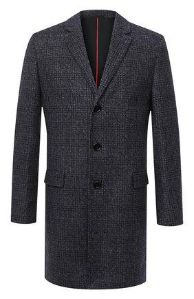 Мужской пальто HUGO темно-синего цвета, арт. 50438366   Фото 1
