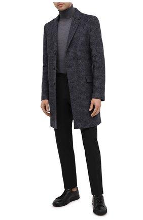 Мужской пальто HUGO темно-синего цвета, арт. 50438366   Фото 2