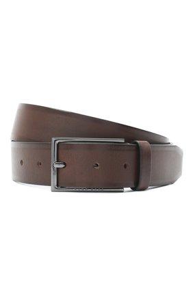 Мужской кожаный ремень BOSS темно-коричневого цвета, арт. 50440750 | Фото 1