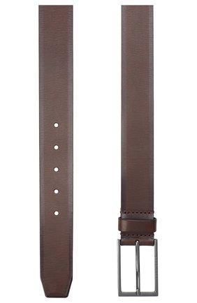 Мужской кожаный ремень BOSS темно-коричневого цвета, арт. 50440750 | Фото 2