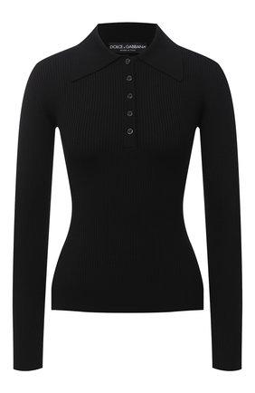 Женское шерстяное поло DOLCE & GABBANA черного цвета, арт. FX880T/JAVYN | Фото 1