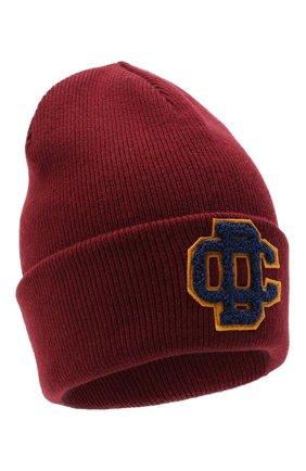 Женский шерстяная шапка DSQUARED2 бордового цвета, арт. KNM0001 01W03227 | Фото 1