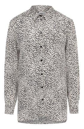 Женская рубашка из вискозы KENZO черно-белого цвета, арт. FA62CH03053C | Фото 1
