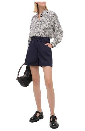 Женская рубашка из вискозы KENZO черно-белого цвета, арт. FA62CH03053C | Фото 2