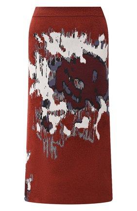 Женская юбка KENZO бордового цвета, арт. FA62JU5253CD | Фото 1