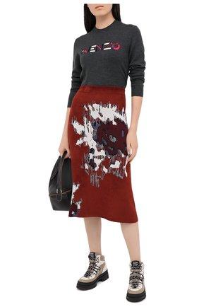 Женская юбка KENZO бордового цвета, арт. FA62JU5253CD | Фото 2
