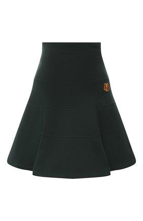 Женская хлопковая юбка KENZO зеленого цвета, арт. FA62JU7954M0 | Фото 1
