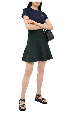 Женская хлопковая юбка KENZO зеленого цвета, арт. FA62JU7954M0 | Фото 2