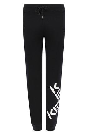 Женские хлопковые джоггеры kenzo sport KENZO черного цвета, арт. FA62PA7224MS | Фото 1