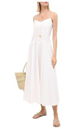 Женское хлопковое платье THREE GRACES белого цвета, арт. TGL DR6097 | Фото 2