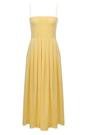 Женское хлопковое платье THREE GRACES желтого цвета, арт. TGL DR7000   Фото 1