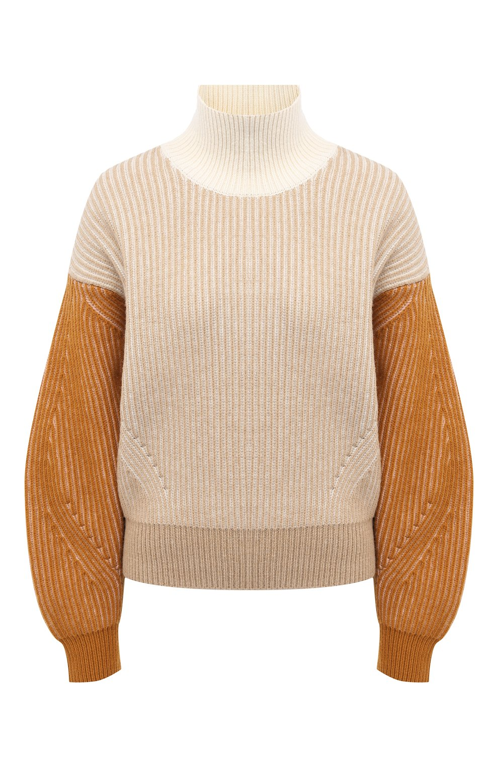 Женский шерстяной свитер KENZO бежевого цвета, арт. FA62PU5033AD | Фото 1